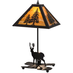 Lone Deer Lighted Base 21 Table Lamp