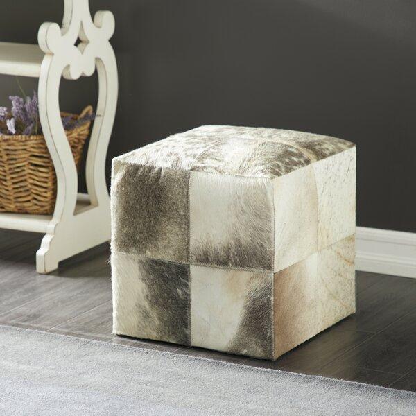 Brown Leather Cube Ottoman Wayfair