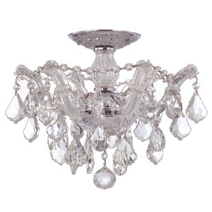 Griffiths 3-Light Semi Flush Mount by House of Hampton