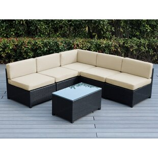 Longshore Tides Brough 6 Piece Sectional Set with Cushions