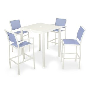 POLYWOOD® Bayline™ 5 Piece Bar Height Dining Set