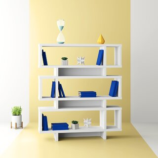 Aleksandra Geometric Bookcase by Hashtag Home SKU:DC662381 Buy