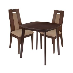 Marigold 3 Piece Solid Wood Dining Set by Ebern Designs
