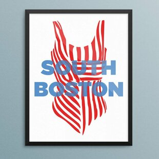 U0027South Boston Bathing Suitu0027 Graphic Art Print