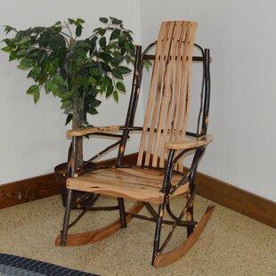 Loon Peak Woodacre Hickory Rocking Chair