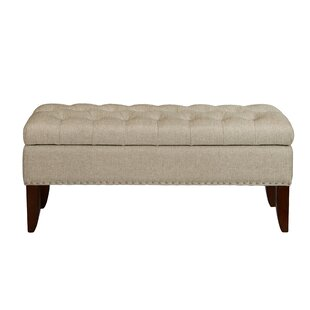 Tackett Hinged Top Button Tufted Upholstered Storage Bench