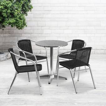 Zipcode Design Imboden Patio Dining Set Reviews Wayfair