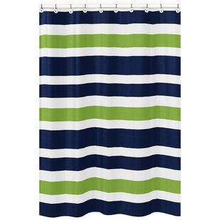 Stripe Brushed Microfiber Single Shower Curtain