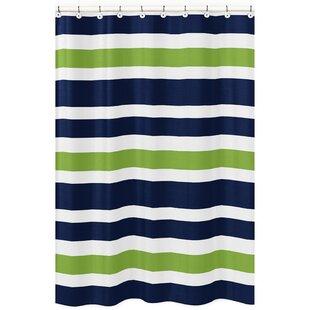 Stripe Brushed Microfiber Single Shower Curtain