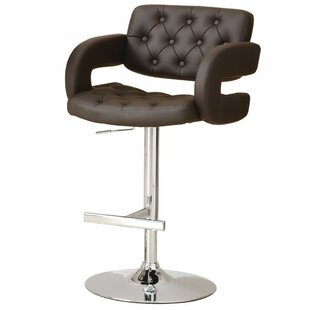 Ivey 38 Adjustable Height Barstool by Orren Ellis