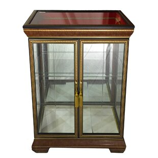 Scotto Fine Italian Wooden Double Door Curio Cabinet