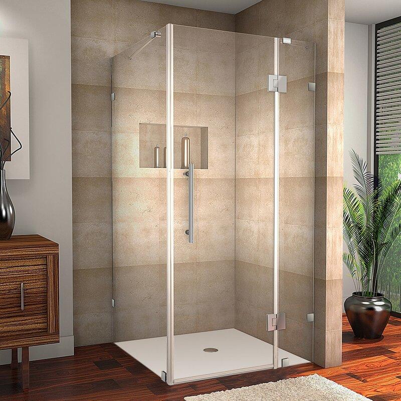 Aston Avalux 32 X 72 Rectangle Hinged Shower Enclosure Wayfair