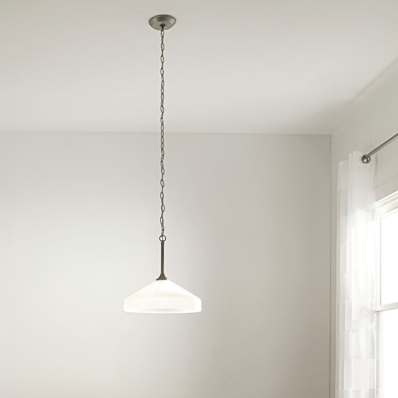 Andover Mills Menasha 1 Light Single Cone Pendant Wayfair