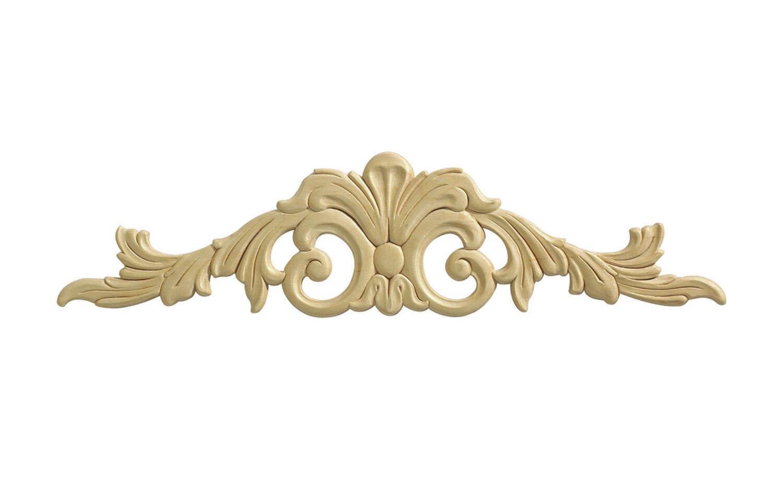 Ornamental Mouldings Birch Acanthus Center 5 38 H X 22 W X 0 29 D Onlay Scroll Reviews Wayfair