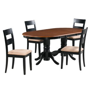 Jaiden 5 Piece Extendable Solid Wood Dining Set by Alcott Hill Spacial Price