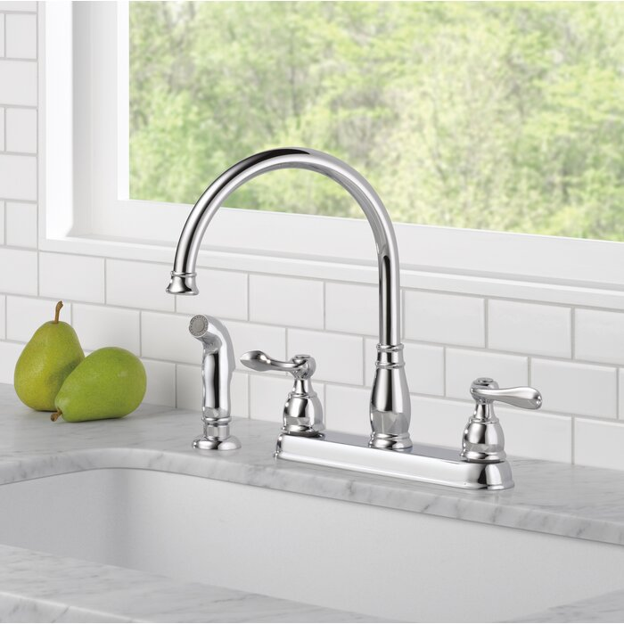 Windemere Double Handle Kitchen Faucet With Side Spray