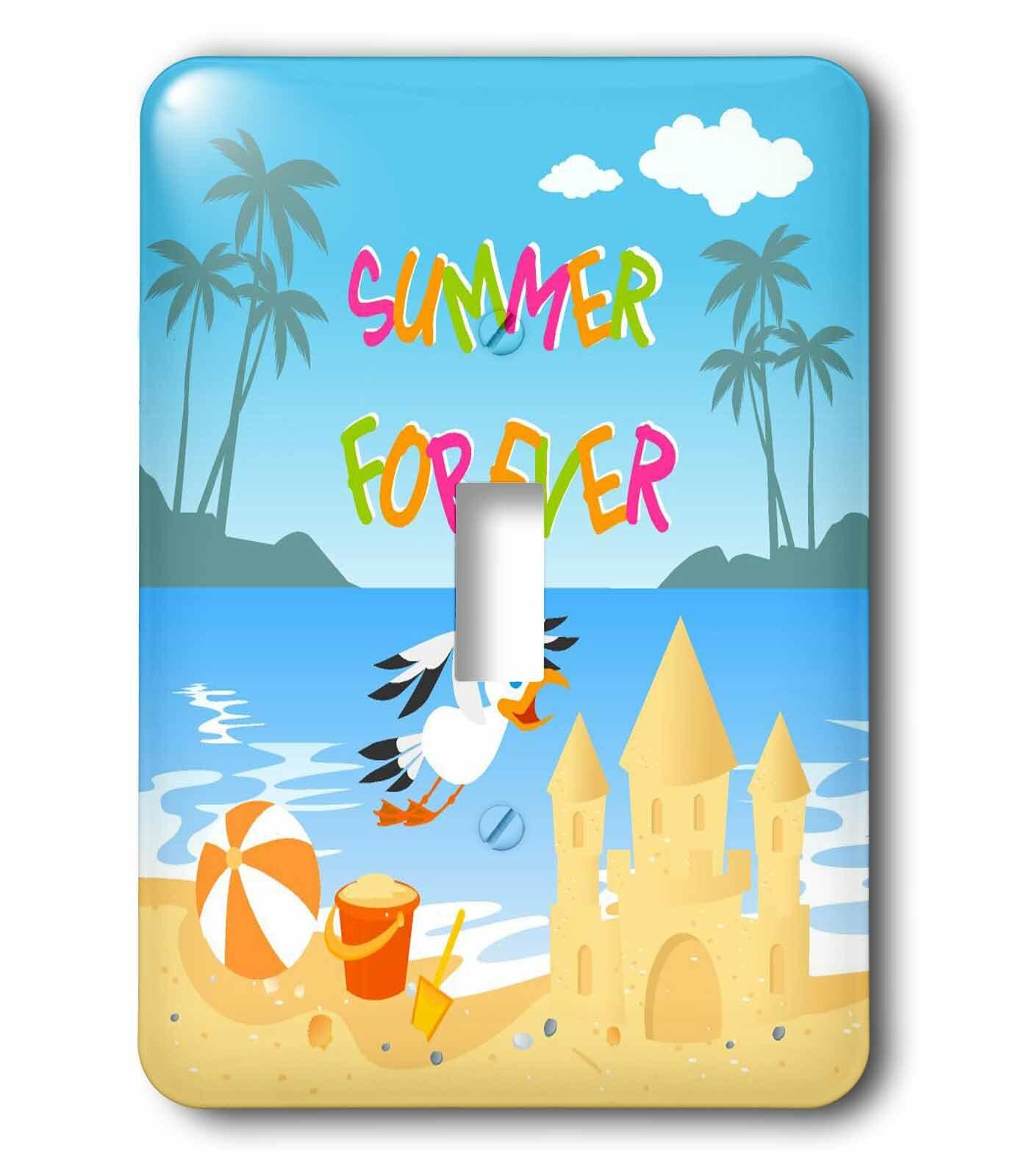 3drose Forever Summer Tropical Beach 1 Gang Toggle Light Switch Wall Plate Wayfair