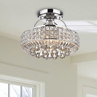 Madilynn 4-Light Semi Flush Mount by Everly Quinn