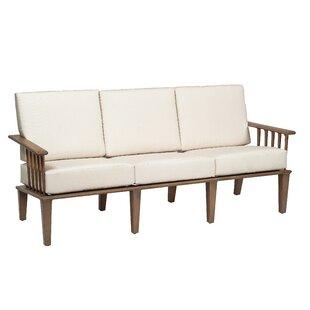 Van Dyke Sofa with Cushions by Woodard
