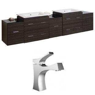 Maryalice Wall Mount 90 Wall-Mounted Double Bathroom Vanity Set by Royal Purple Bath Kitchen