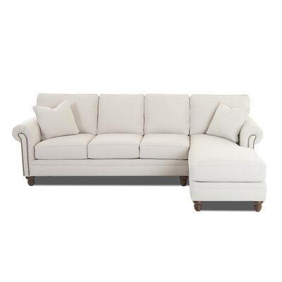 Bransford Sectional Orientation: Right Hand Facing, Upholstery: Conversation Capri by Darby Home Co