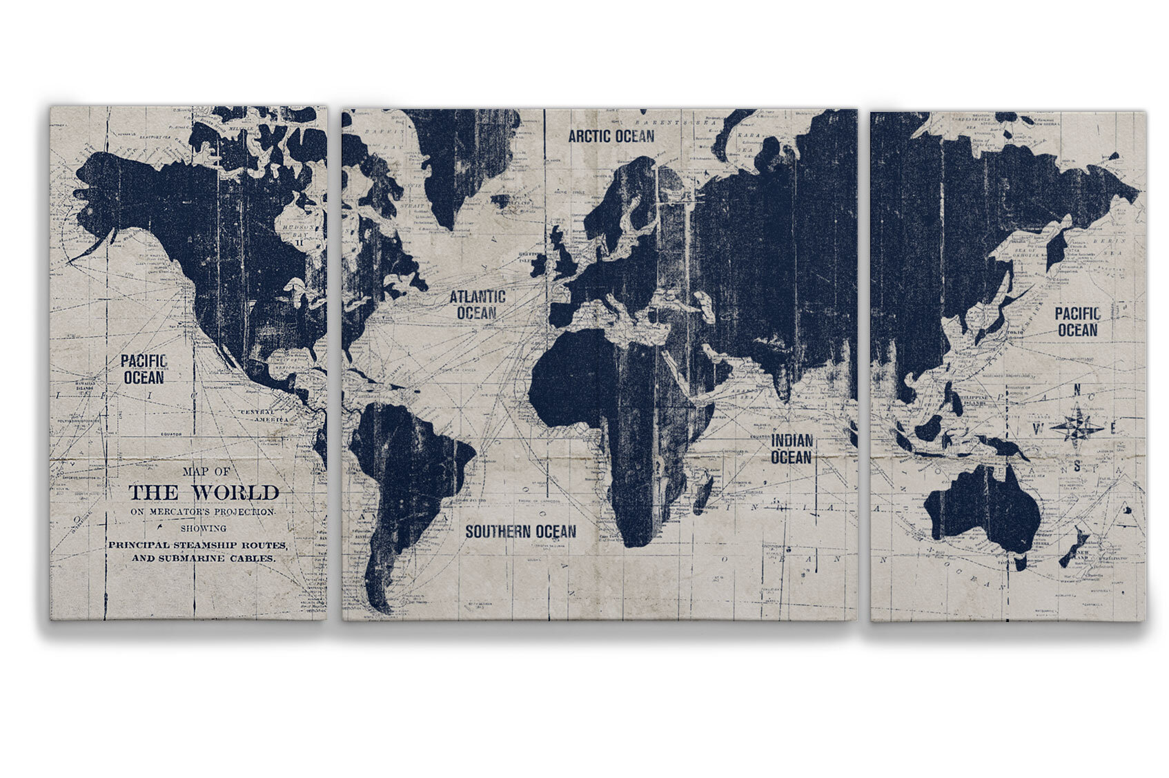 Three Posts Parchment Old World Map Graphic Art Multi Piece Image On Canvas Reviews Wayfair