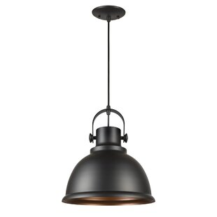 Compare prices Carrie 1-Light Dome Pendant By Breakwater Bay