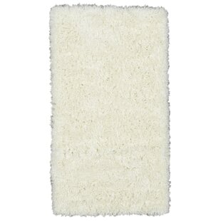 Costantino Fuzzy High Pile Ivory Area Rug by Wrought Studio