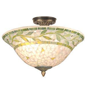 Astoria Grand Weese Mosaic 3-Light Semi Flush Mount