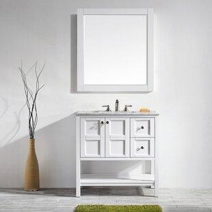Caldwell 36 Single Bathroom Vanity Set with Mirror by Beachcrest Home