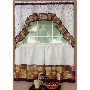 Amazing Cadney Traditional Elegance Coffee 2 Piece Kitchen Curtain Set