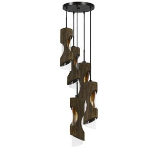 Henderson Wood 5-Light Cluster Pendant by Wrought Studio