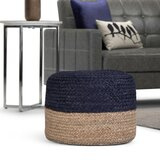Edmunds 18 Wide Round Pouf Ottoman by Bungalow Rose
