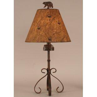 Coast Lamp Mfg. Rustic Living Iron S-Leg Bear 28.5