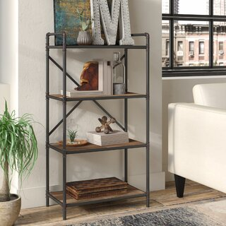 4 Tier Pipe Etagere Bookcase by 17 Stories SKU:EC478550 Shop