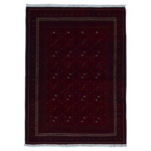 Shopping for One-of-a-Kind Angoy Afghan Hand-Knotted Wool Red/Black Area Rug By Isabelline