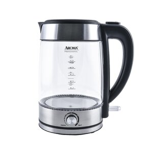 1.8 Qt. Professional Glass Cordless Electric Tea Kettle