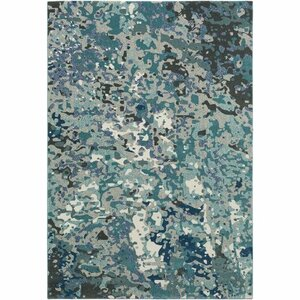 Donvers Teal/Navy Area Rug