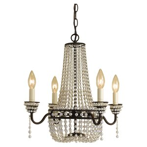 Parlor 4-Light Crystal Chandelier
