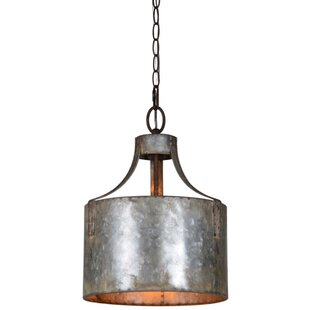 Williston Forge Stefan 1-Light Drum Pendant