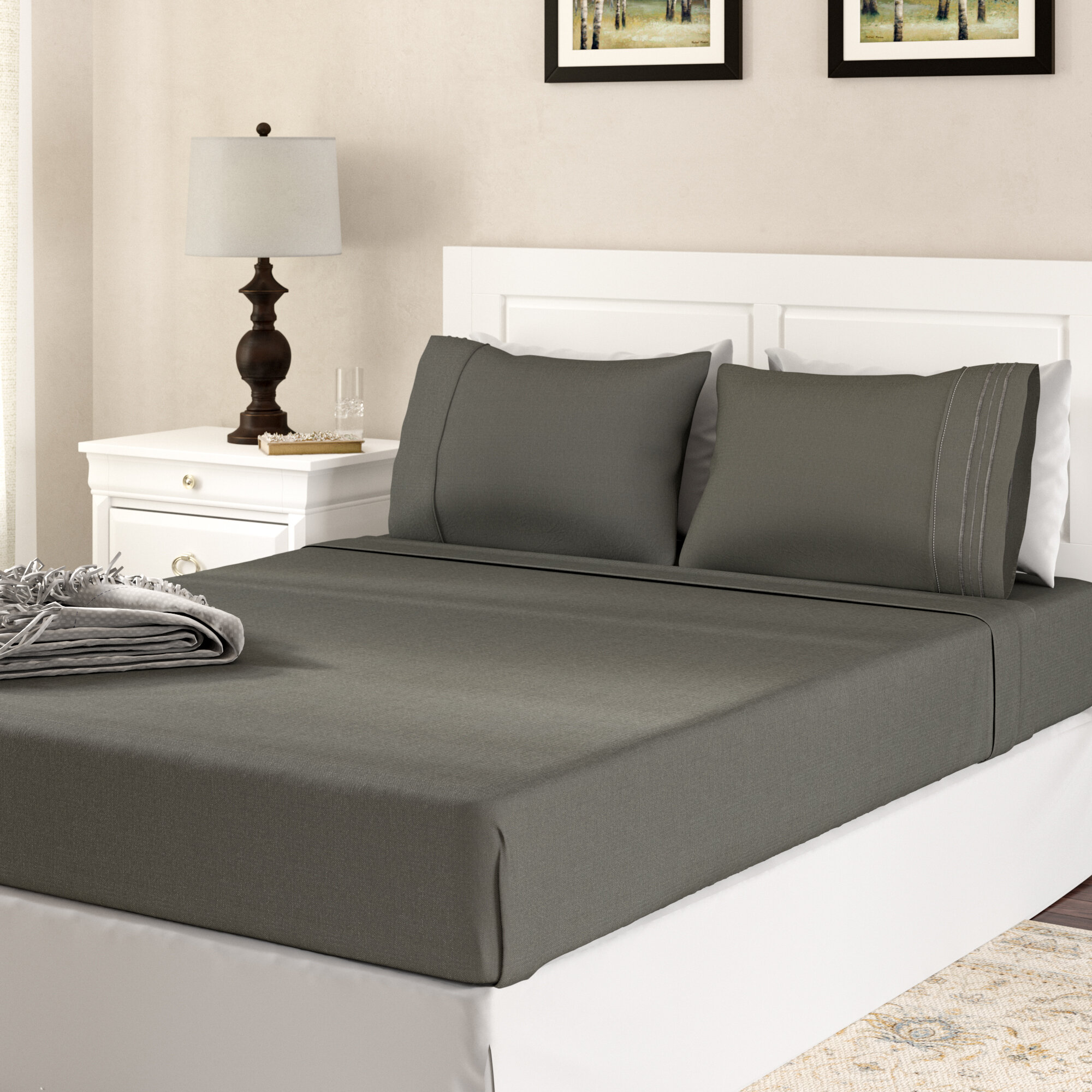 The Twillery Co Alonzo 1800 Series Bamboo Blended Sheet Set Reviews Wayfair
