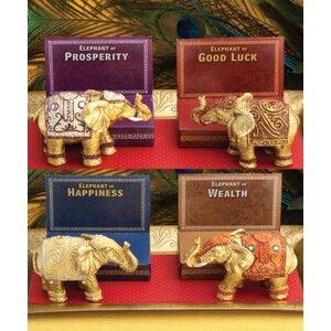 Decorative Mini Elephant Resin Figurine (Set of 4)