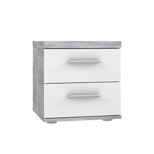 Jarvis Bedside Table with 2 Drawers by Metro Lane