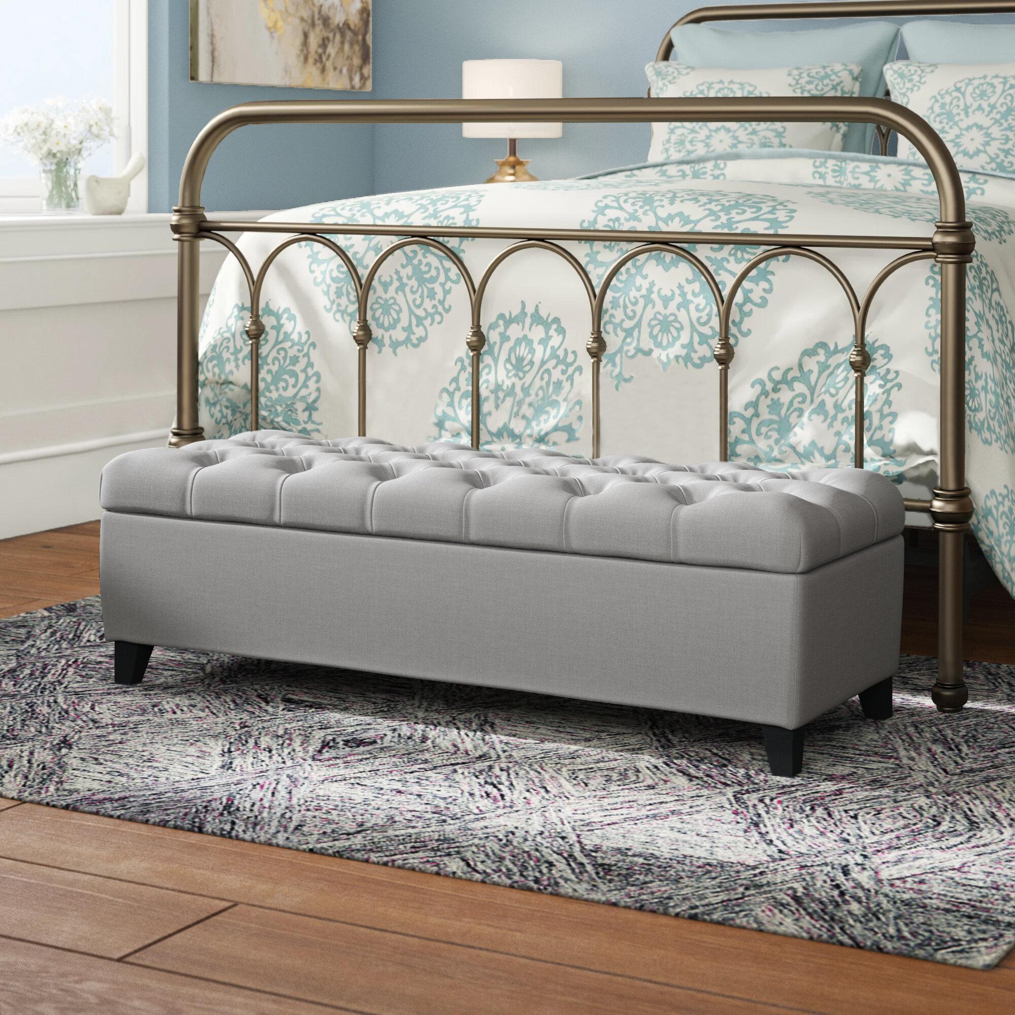 Three Posts Amalfi Upholstered Flip Top Storage Bench Reviews Wayfair
