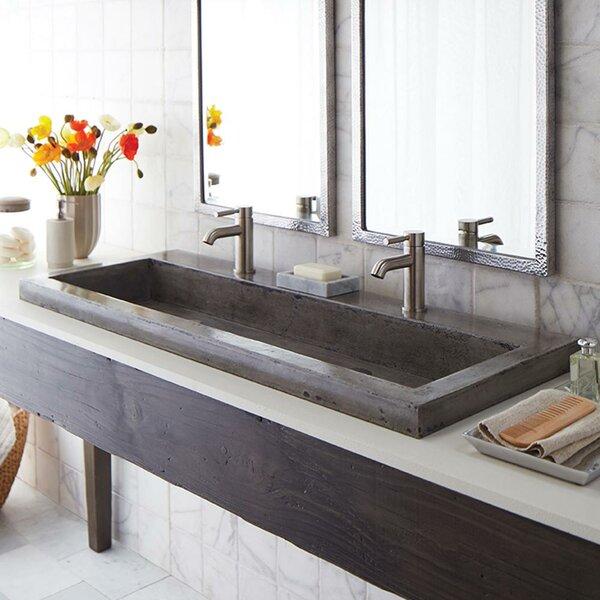 Swell Bathroom Double Trough Sink Wayfair Download Free Architecture Designs Scobabritishbridgeorg