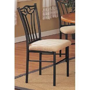 Fleur De Lis Living Williamson Metal Upholstered Dining Chairs (Set of 2)