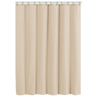 Rhames Stripe Embossed Single Shower Curtain
