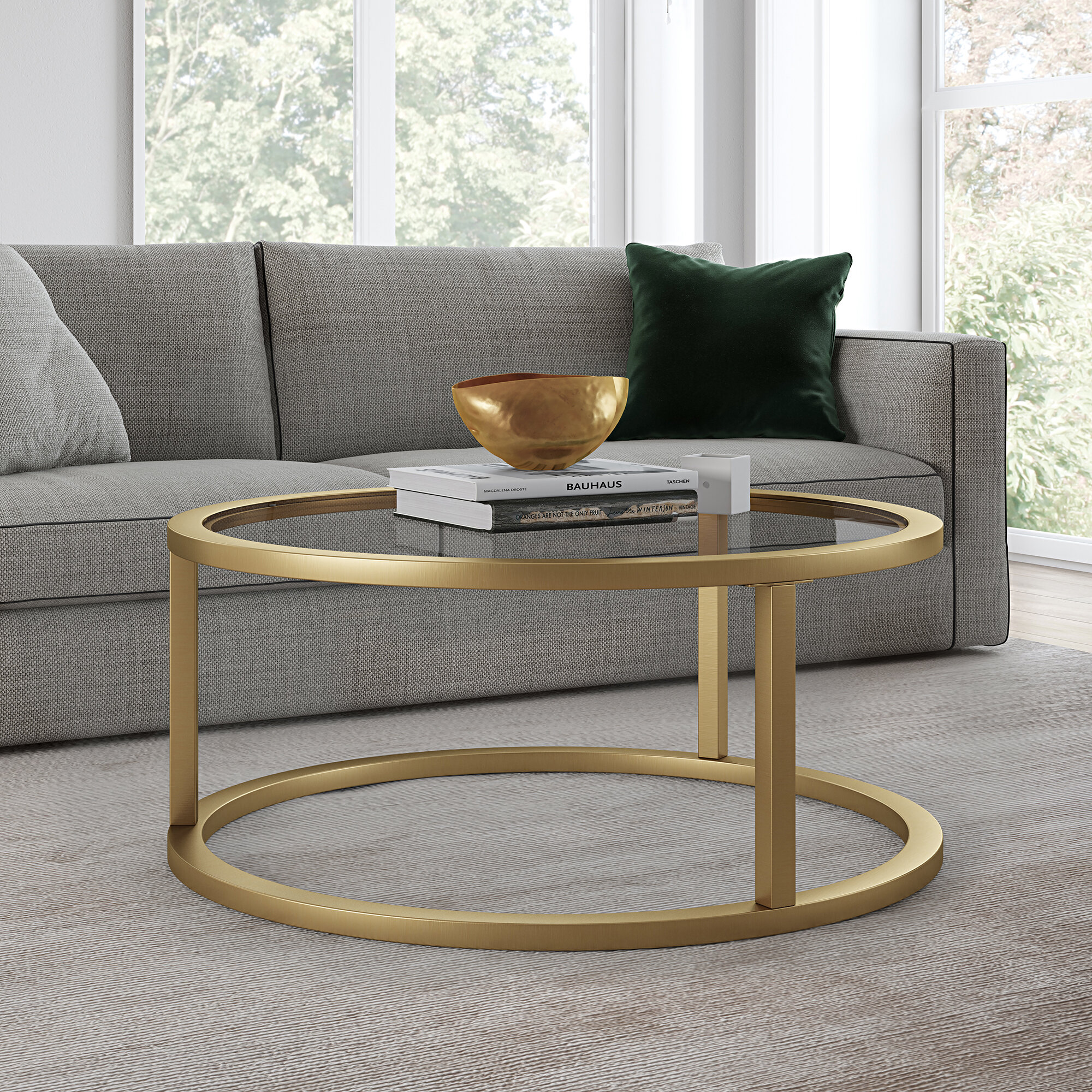 Brass Round Coffee Tables You Ll Love In 2021 Wayfair