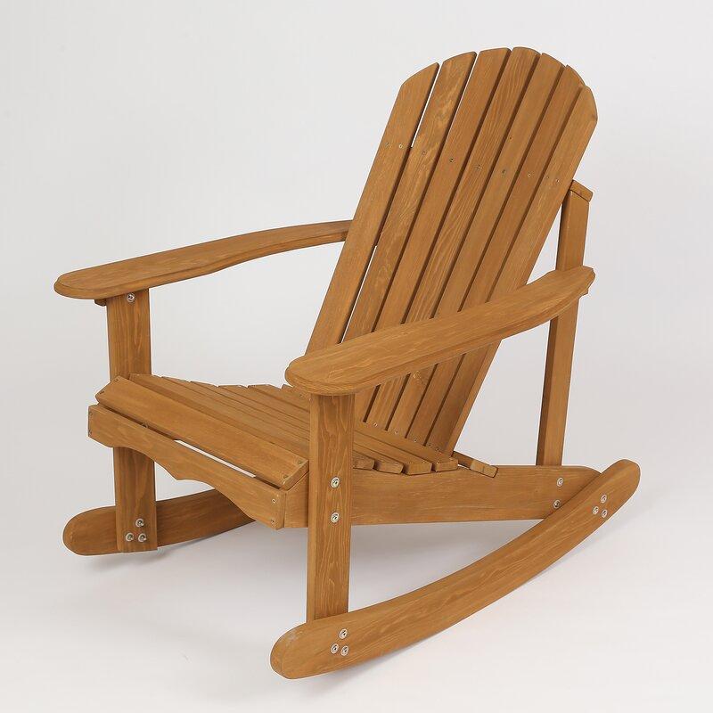 Fantastic Chartier Solid Wood Rocking Adirondack Chair Download Free Architecture Designs Estepponolmadebymaigaardcom