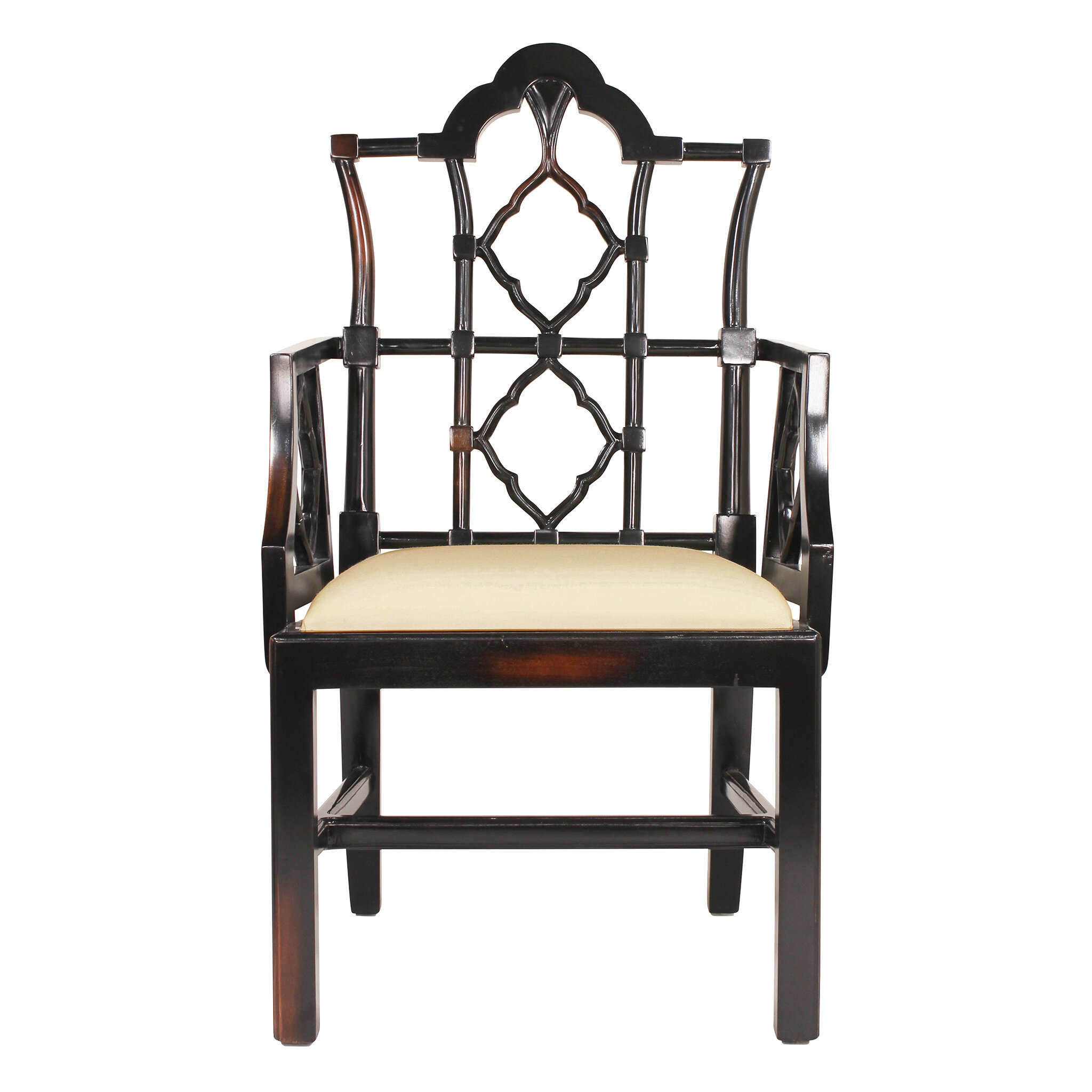 Design Toscano Chinese Chippendale Fabric Armchair | Wayfair